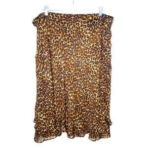 George Mark Eisen Animal Print Layered ALine Skirt